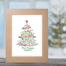 Personalised Christmas Tree Print - Unique Festive Family Gift